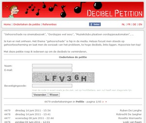 Decibel Petition